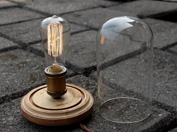 Murale Lampe Industrielle Edison Ampoule Verre Personnalise Etsy