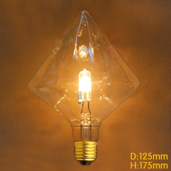 gro er pfeil e27 g9 diamond halogenlampe edison stil gl hbirne etsy. Black Bedroom Furniture Sets. Home Design Ideas