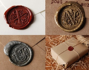 Sealing wax  A to Z Alphabet  Alphabet Stamp head waxing stamp wedding seal english