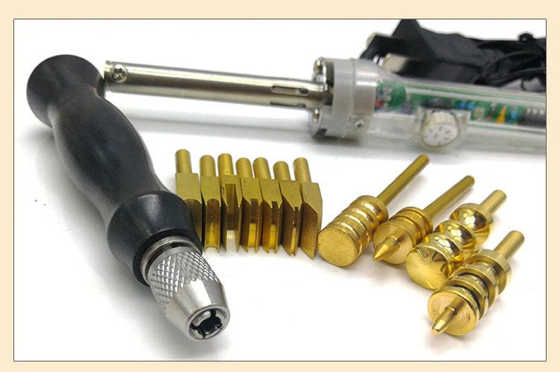 Electric leather tools copper Edge Creaser edge scriber edge polisher hot seal