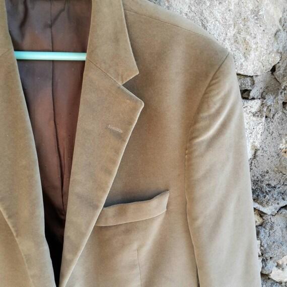 Mens jacket velvet/velvet blazer for men in milky