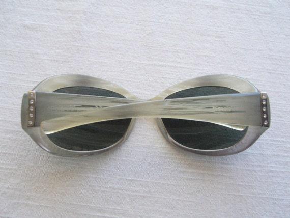 Retro sunglasses vintage/sunglasses round/variega… - image 4