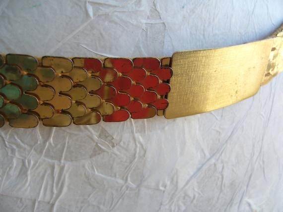 Bridal belt vintage / gold metal belt vintage / la