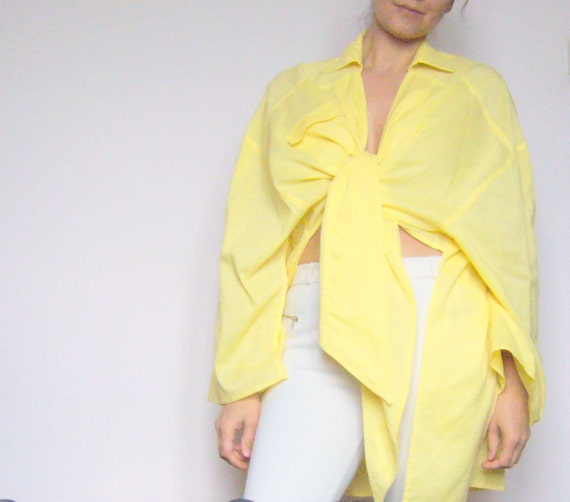 Yellow tunic loosy/linen tunic citrine/yellow and
