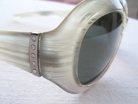 Retro sunglasses vintage/sunglasses round/variega… - image 2