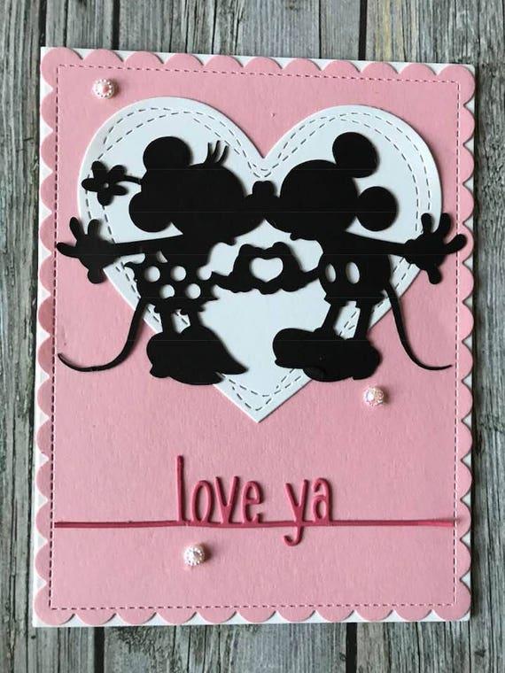 Disney card. Disney valentines card mickey mouse card