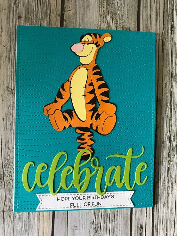 Handmade Tigger Birthday Card Handmade Disney Birthday