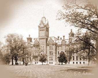Vintage University Hall, Ohio State University, Columbus, Ohio