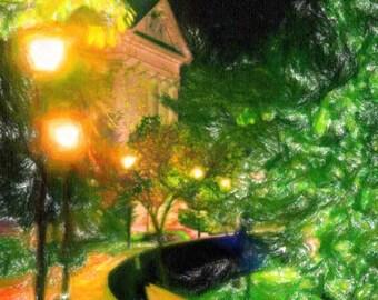 Denison University at night, Granville, Ohio