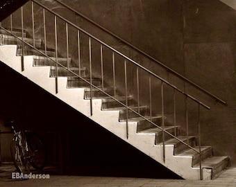 Stairway In Sepia