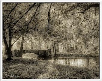 Mystic Scene Stone Bridge, Snyder Park, Springfield Ohio