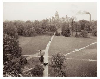 The Oval to University Hall, Ohio State University, Columbus Ohio Download Image