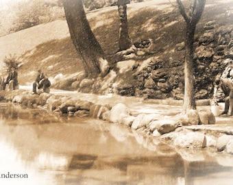 Vintage Mirror Lake, Ohio State University, Columbus Download Image