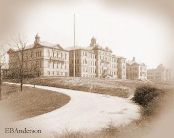 Vintage University of Cincinnati,  Cincinnati, Ohio, Downloadable Image