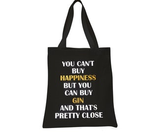 Gym I thought you said GIN Funny Neon Pink Cotton D.GREY Tote Shopper Bag Gift