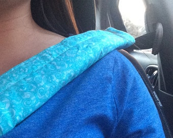 Teal Reversible Seatbelt Cover