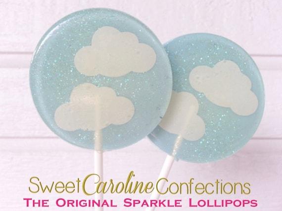 Cloud Baby Shower Lollipops Baby Shower Favors Clouds Light Etsy