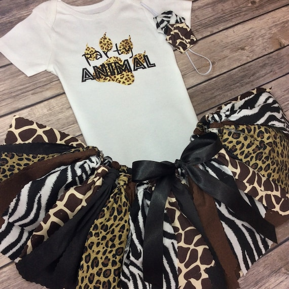 3 Piece Party Animal Print Birthday or Sibling Outfit  22435c13f