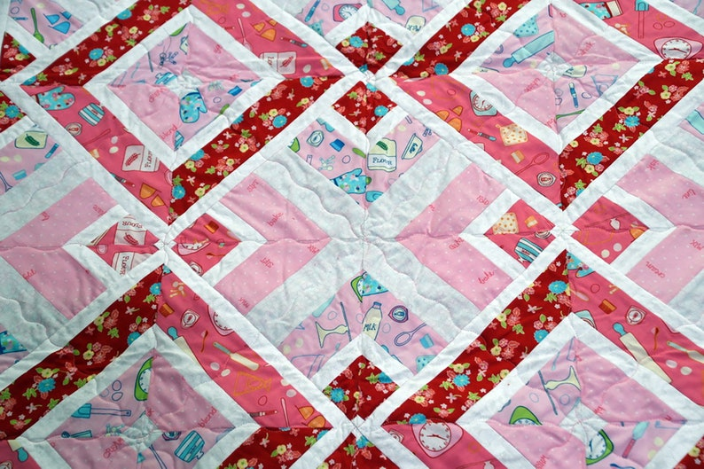 Modern Quilt shaded Diamond pattern Baby Quilt Large Lap Quilt Personalize Wall Hanging Quilt