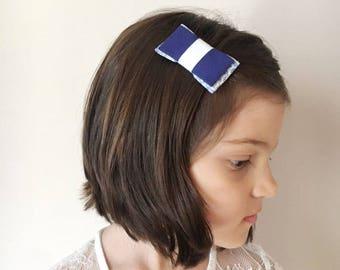 Fermaglio per capelli  fiocco  clip  fermacapelli  accessori capelli   handmade 660f9914586a