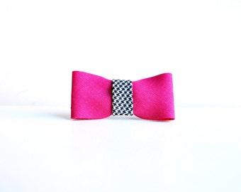 Fermaglio per capelli  fiocco fucsia  clip  fermacapelli  accessori capelli   handmade dce471df69fb