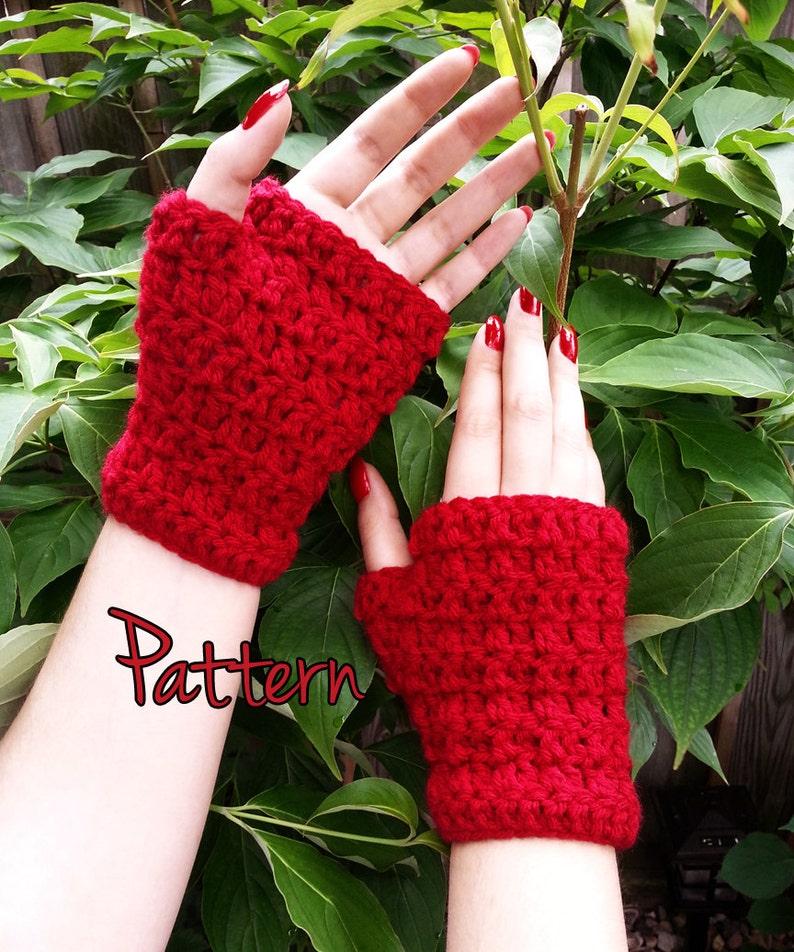 Crochet Glove Pattern Fingerless Gloves Easy Beginner Tutorial Etsy