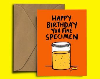 You fine specimen - wee - happy birthday card
