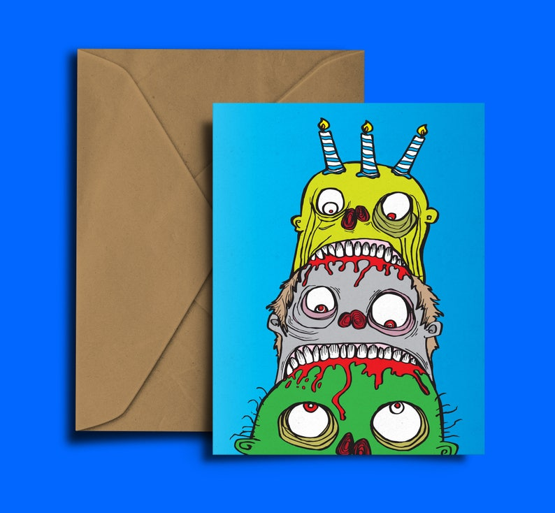 Zombie Card Birthday Cake