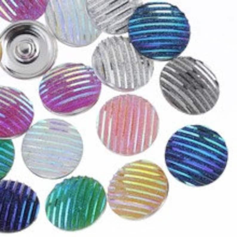 Snap It SKB5213 SKB2239  Noosa Chunk Snap Button Interchangeable 18mm 20mm snaps Beautiful BlueGreen Lines