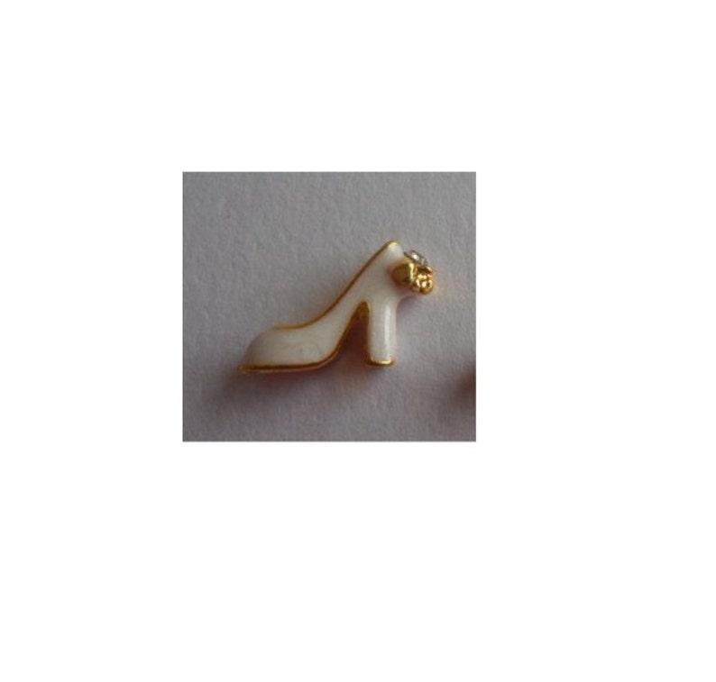 Wedding Bride High Heel Shoe 3D  MCJ0112   Floating Charm for Memory Glass Locket