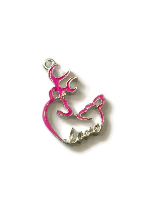 Hot Pink Browning Heart Symbol Charmbrowning Heartbrowning Etsy