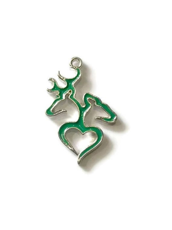 Green Browning Heart Symbol Charmbrowning Charmbrowning Etsy