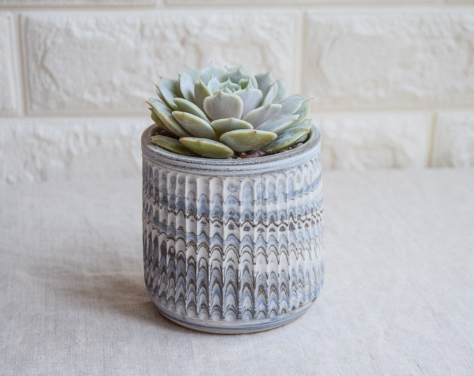 Ceramic Planter,White Planter,Marbled Planter,Succulent Planter,Herb Planter,Indoor Planter,Handmade Planter,Textured Planter,No Plant,CP1