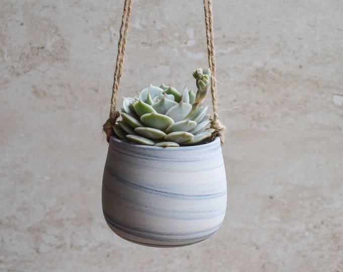 Hanging Planter,Ceramic Planter,Marbled Planter,White Planter,Blue Planter,Succulent Planter,Indoor Planter,Modern Planter,no plant,SP293
