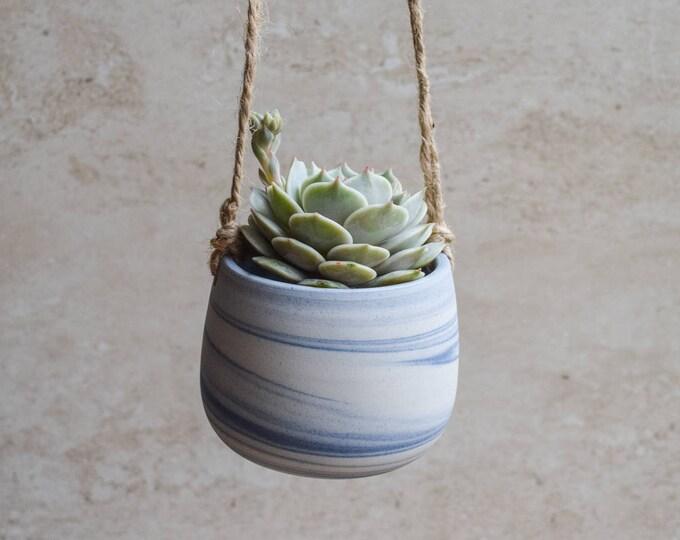 Hanging Planter,Ceramic Planter,Marbled Planter,White Planter,Blue Planter,Succulent Planter,Indoor Planter,Modern Planter,no plant,SP299