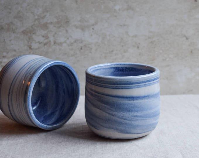 Ceramic Mug, Handmade Ceramic Mug, Blue marbled ceramic mug, contemporary mug, Ceramic Cup, Ceramic Tumbler, Porcelain Mug, Coffee Mug (M44)