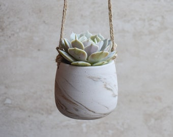 Hanging Planter,Ceramic Planter,Marbled Planter,White Planter,Gray Planter,Succulent Planter,Indoor Planter,Modern Planter,no plant,SP377