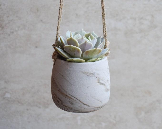 Hanging Planter,Ceramic Planter,Marbled Planter,White Planter,Gray Planter,Succulent Planter,Indoor Planter,Modern Planter,no plant,SP377