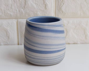 Blue Marbled Mug, Ceramic Mug, Ceramic Tumbler, Ceramic Cup, Porcelain Mug, Marbled Mug, Coffee Mug, Tea Cup, Home Decor,Marbled, Agate,M3
