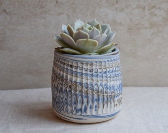 Ceramic Planter,White Planter,Marbled Planter,Succulent Planter,Herb Planter,Indoor Planter,Handmade Planter,Textured Planter,No Plant,PL6