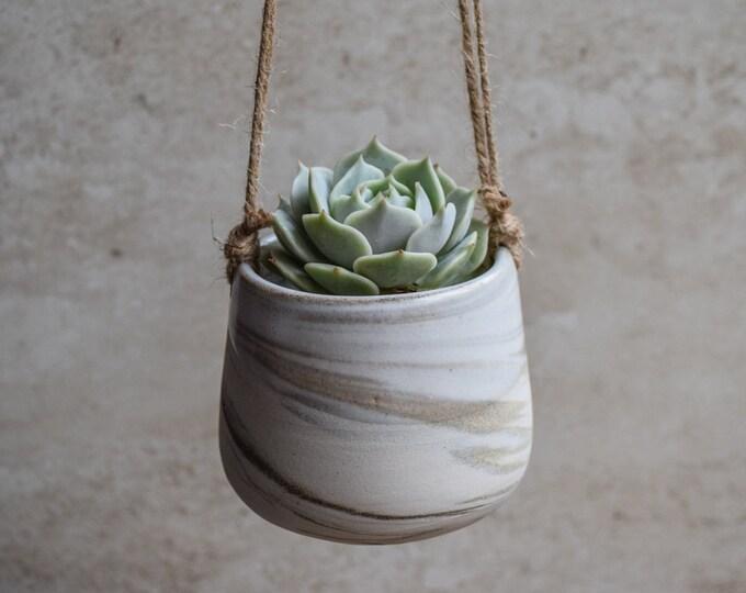 Hanging Planter,Ceramic Planter,Marbled Planter,White Planter,Gray Planter,Succulent Planter,Indoor Planter,Modern Planter,no plant,SP333