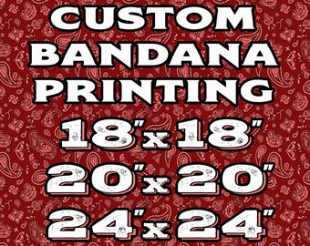 Custom Bandanas, Create Your Own Personalized Photo Image Head Wrap