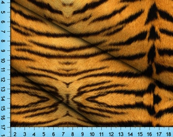 Tiger Print Fabric By the Yard, Half Yard and Fat Quarter