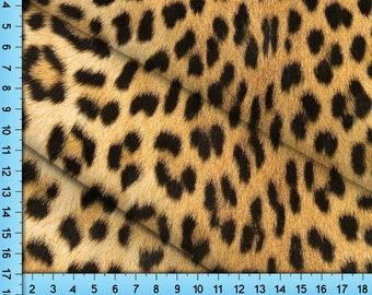 Leopard Print Fabric By the Yard, Half Yard and Fat Quarter