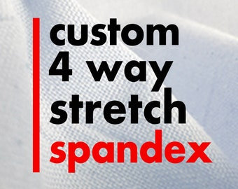 Custom Printed Spandex, 4-way Stretch Fabric with Your Personalized Images for DIY Scrunchies, Gaiters, Leggings, Swimwear, Yoga Pants