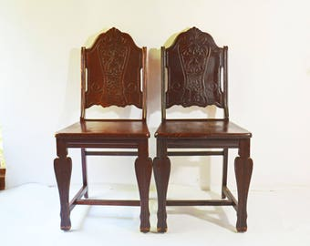 Vintage Wooden Chairs >> Wood Chair Etsy