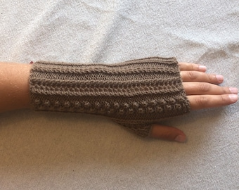 Luxury women's luxury cashmere mitts fancy brown icy brown