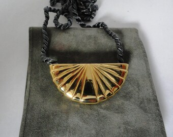 Karl Lagerfeld KL, parfume necklace gold plated, one of a kind...