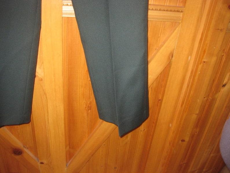 Vtg new old stock spruce green towncraft J C PENny Disco pants polyester flair leg wide belt loop talon zipper 38x29 new free ship