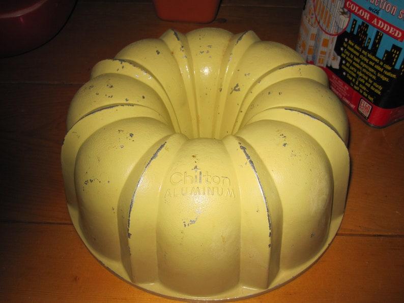 Vtg heavy cast ALuminum harvest gold chilton 10.5 cup bundt pan awesome good shape rare chilton